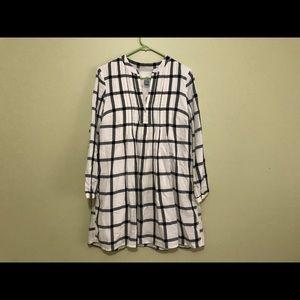 Checkered Flowy Dress
